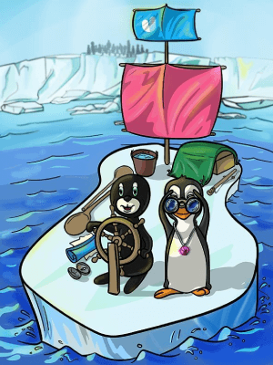 Penguin Tiles Game Image Antarctica
